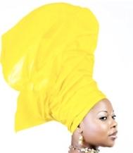 Lady with a Nigerian gele/headgear