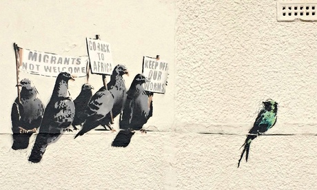 Banksy's Racist Pigeons at Clacton-on-Sea